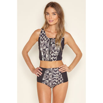 Lekeni Neoprene Crop Vest by Amuse Society