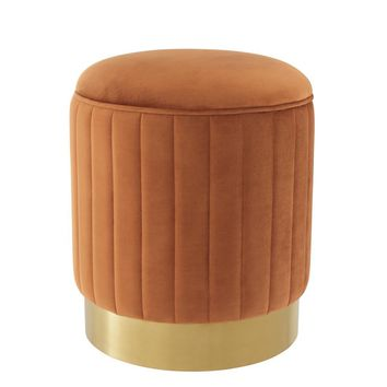 Orange Velvet Stool | Eichholtz Allegra