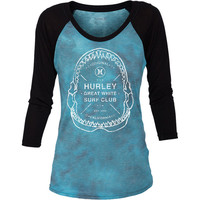 Hurley Surf Club Cloud Raglan T-Shirt - 3/4-Sleeve - Women's
