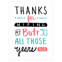 Butt Thanks Greeting Card