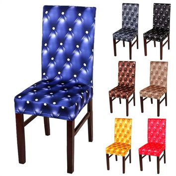 1 PCS Series Spandex Dining Chair Slipcovers Removable Universal Stretch Chair Covers for Dining Room Hotel Banquet Ceremony