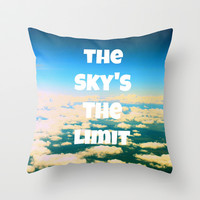 the sky's the limit Throw Pillow by McKenzie Nickolas (kenzienphotography)