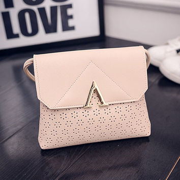 Summer Fashion Simple Design One Shoulder Korean Mini Hollow Out Bags [6582448903]