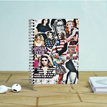 Lana Del Rey Collage Photo Notebook Auroid