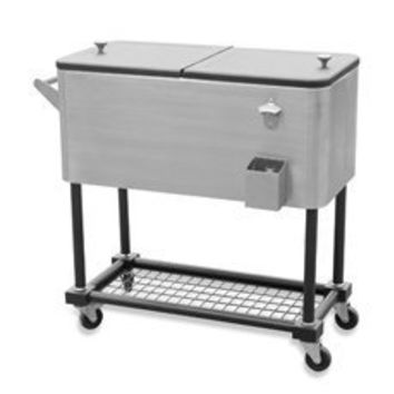 Sunjoy 80-Quart Stainless Steel Beverage Cooler Cart - Bed Bath & Beyond