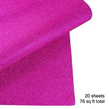 Glitter Gift Wrapping Paper, 20 Sheets, 76 sqft (Pink)