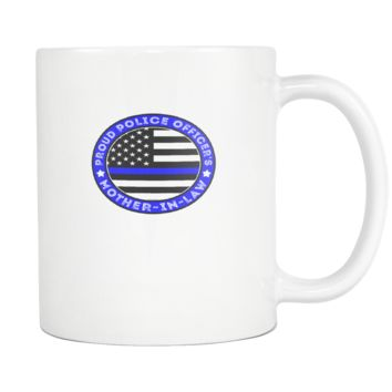 Proud Police Officer's Mother-In-Law Coffee Mug, 11 Ounce