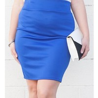 Plus Size High Waist Pencil Skirt — Tanny's Couture LLC