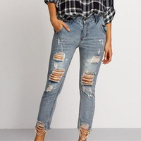 Vintage Look  Sexy Ripped Jeans