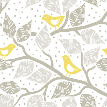 Modern Birds Removable Wallpaper
