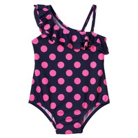 OshKosh B'gosh Polka-Dot One-Piece Swimsuit - Baby Girl, Size: