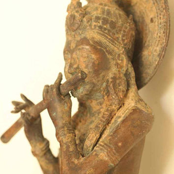 Krishna bronze sculpture antique