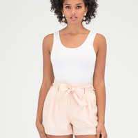 Pleats Please Tied Woven Shorts GoJane.com