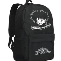 Anime Backpack School Boku no Hero Academia Backpack My Hero Academia Bag Cartoon kawaii cute Oxford Unisex Schoolbag AT_60_4