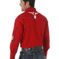 Wrangler 20X Logo Solid Red Western Shirt - Sheplers