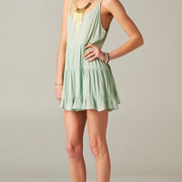 PASTEL MINT OPEN BACK BABYDOLL TIERED DRESS | PUBLIK | Women's Clothing & Accessories