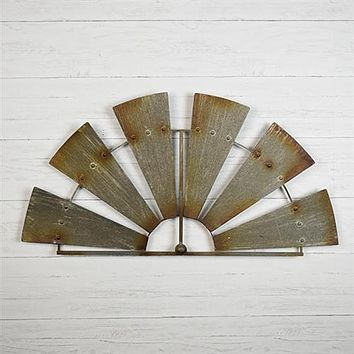 Farmhouse Half Windmill Fan Blade Wall Decoration