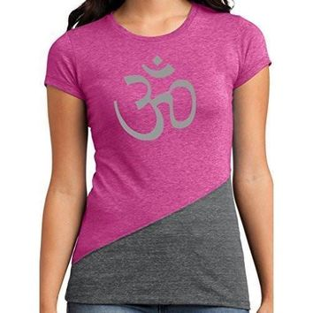 Yoga Clothing for You Womens Aum Om Symbol Fitted Tee Shirt