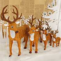 Christmas Tree Decorations Lovely Deer,Different Size Christmas Reindeer,Cheap Christmas Ornaments Supplies