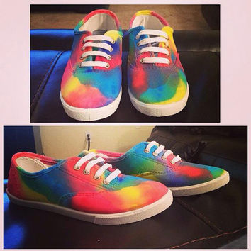 Custom Made Colorful Painted Sneakers Unique Shoes