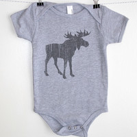 Moose with Grunge Texture