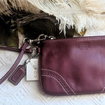 Coach Soho Small Wristlet in Berry