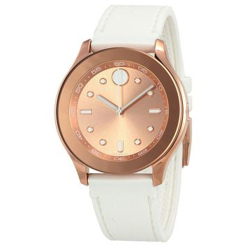 Movado Bold Rose Gold-Tone Dial Ladies Watch 3600411