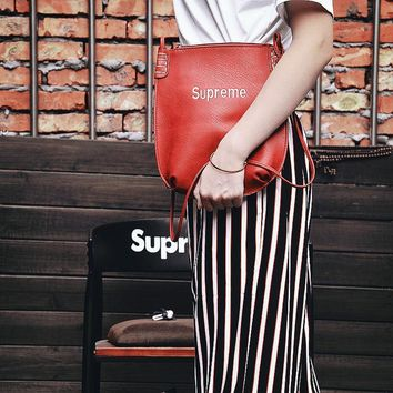 Supreme Beauty  Storage Bags One Shoulder Messenger Bags Embroidery Classics File Packet Tote Bag Backpack Make-up Bag [56907792396]