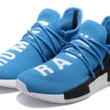 Adidas X Pharrell Williams NMD HU Human Race Azul Branco- sizes 8 ao 12