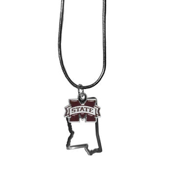 Mississippi St. Bulldogs State Charm Necklace CSN45