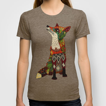 fox love juniper T-shirt by Sharon Turner | Society6