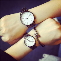 2016 New Korean Style Fashion Simple Candy Colored Lovers Watch Lemon Luxury Women Quartz Watch Table Couple Watch hodinky
