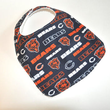 Chicago Bears baby bib, Football baby bib, Chicago baby bib, Bears bib, Bears baby bib, Chicago bib, Chicago Bears bib, Football Fan baby