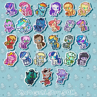 MY LITTLE PONY Inspired Stickers Giant Pack