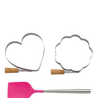 Kate Spade 3 Piece Pancake Set Pink ONE