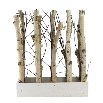 """18.75"""" Mixed Branch Bouquet in White Wood Box Table Top Decoration"""