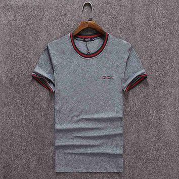 GUCCI Men's & Women's Fashion Sweatshirt Tops T-Shirts F/A grey