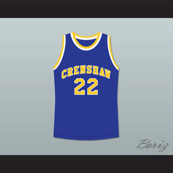Quincy McCall 22 Crenshaw High School Blue Basketball Jersey Love and Basketball