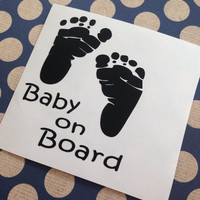 Baby On Board Car Decal | Baby Car Decal | Mommy Decal | Mom Car Decal | Future Mother Decal | Mom Decal | Preppy Baby Decal | Prepster Baby