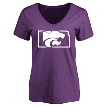 Kansas State Wildcats Women's Purple Tradition State Slim Fit T-Shirt
