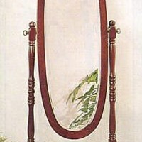 Cherry Cheval Mirror by Crown Mark