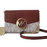 Michael Kors Hudson Large Phone Crossbody - Vanilla