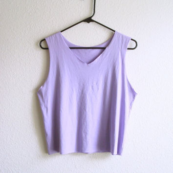 6ef54a5e44cf5 Crop Top Tank Pastel Lilac Lavender Soft from TheGoldenCat on