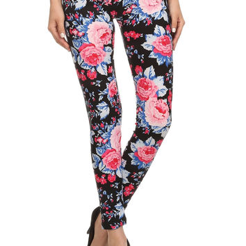 Always Dressy Flowers Quality Printed Floral Tights