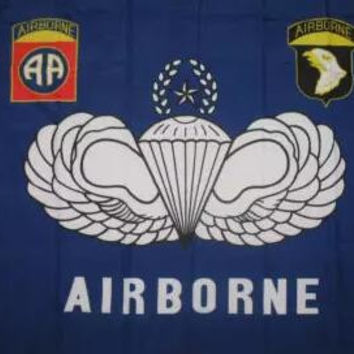 US Army Airborne 82nd and 101st Division All American Flag 3ft x 5ft Polyester Banner Flying 150* 90cm Custom flag outdoor