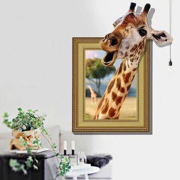Kids Effect Giraffe Photo Frame Bedroom Wall Stickers