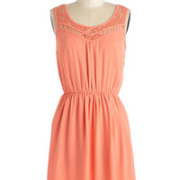 ModCloth Pastel Short Length Sleeveless A-line Cupcake Competition Dress in Apricot