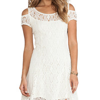 Free People Kiss The Sun Off Shoulder Dress in Ivory