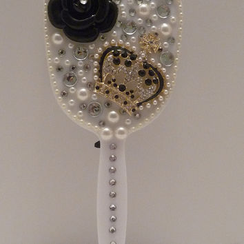 Decorated Handheld Mirror  Crown by TransitionsinDesign on Etsy