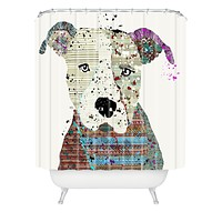 Brian Buckley Pit Bull Graffiti Shower Curtain